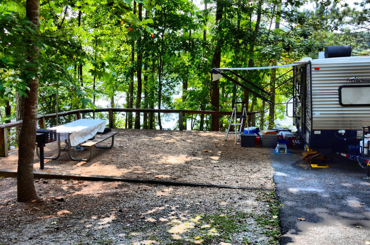 Awning-side clearance, campsite view.McKinney Campground, campsite 132.