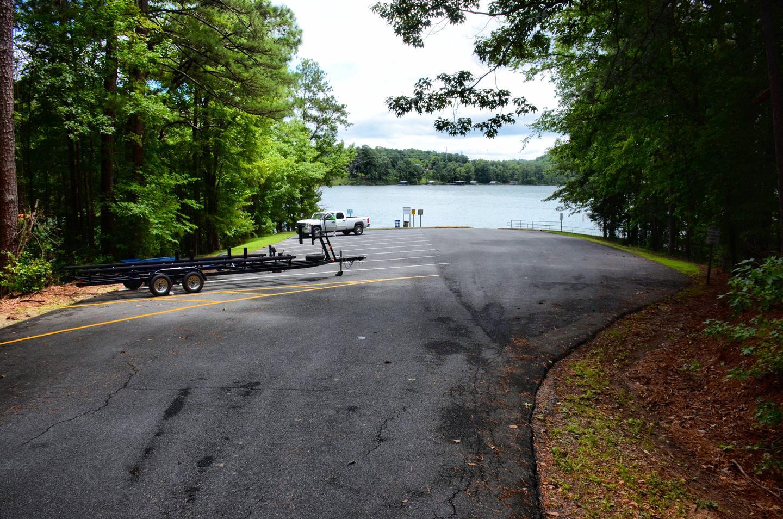 McKinney Campground boat ramp parking.