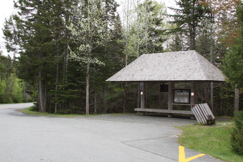 Island Explorer Bus Stop at Seawall Campground