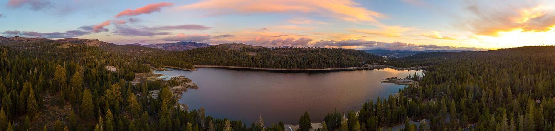Aerial photo of Lake Alpine