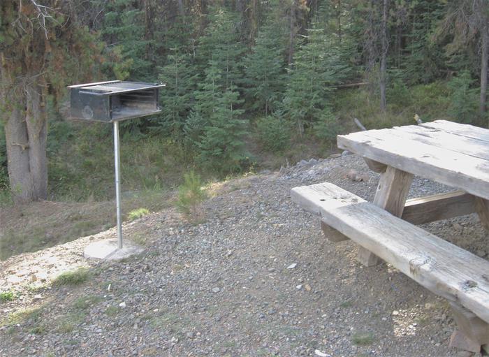 Grill and Picnic TableGrill and picnic table at Hilltop Hideaway