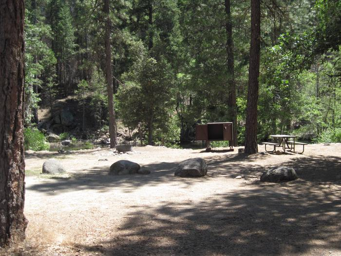 Food locker, picnic table, and fire ringSite 63