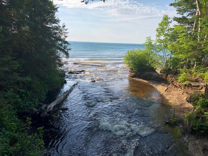 Hurricane River flowing into Lake Superior