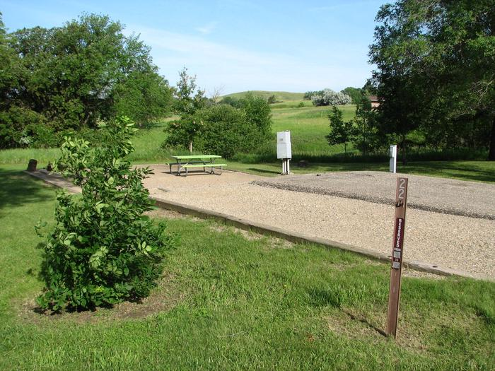 Beaver Creek Recreation Area Campsite 22- ElectricalCampsite 22 is a 30 Amp electrical back-in campsite with a paved pad.  The campsite contains a fire ring and a picnic table.  There is an additional gravel parking area next to the paved pad for vehicle parking.