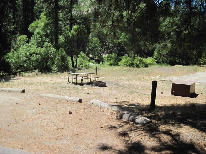 Food locker, picnic table, and fire ringSite 26