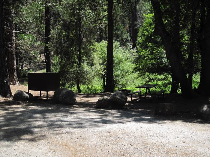 Food locker, picnic table, fire ringSite 75