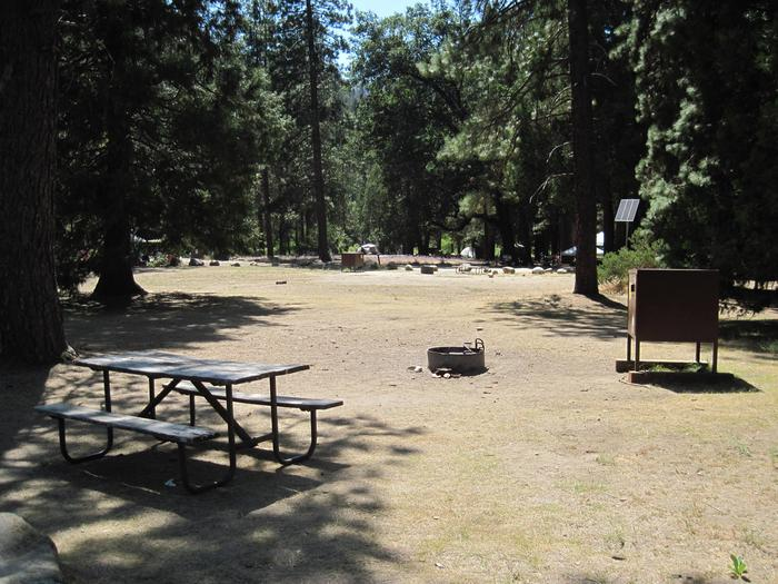 Food locker, picnic table, and fire ringSite 60