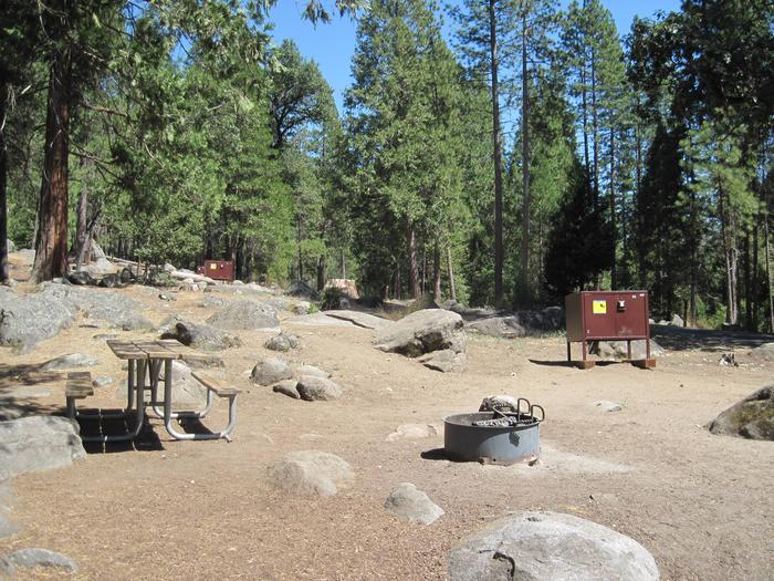 Food locker, picnic table, and fire ringSite 94