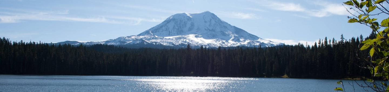 Mt. Adams behind Takhlakh Lake