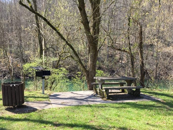 DALE HOLLOW DAMSITE DAY USE AREA, RIVERSIDE PICNIC TABLES, NON-RESERVABLE