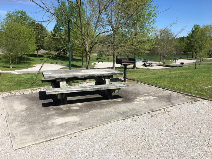 LILLYDALE CAMPGROUND SITE # 35 CONCRETE TABLE PADLILLYDALE CAMPGROUND SITE # 35