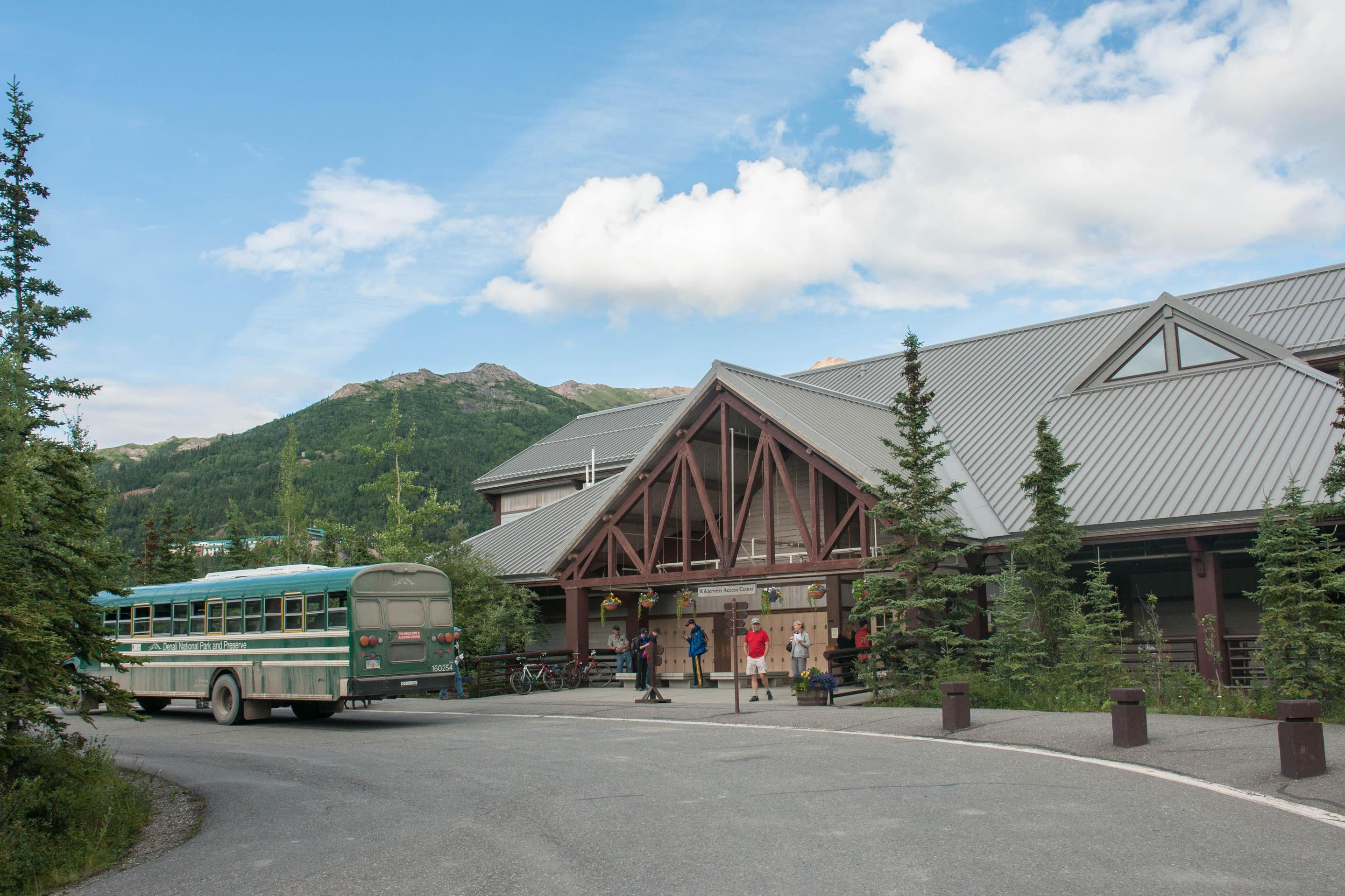 Denali Bus DepotThe Denali Bus Depot is the starting point for most bus trips into Denali