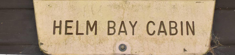 Helm Bay SignHelm Bay  Sign