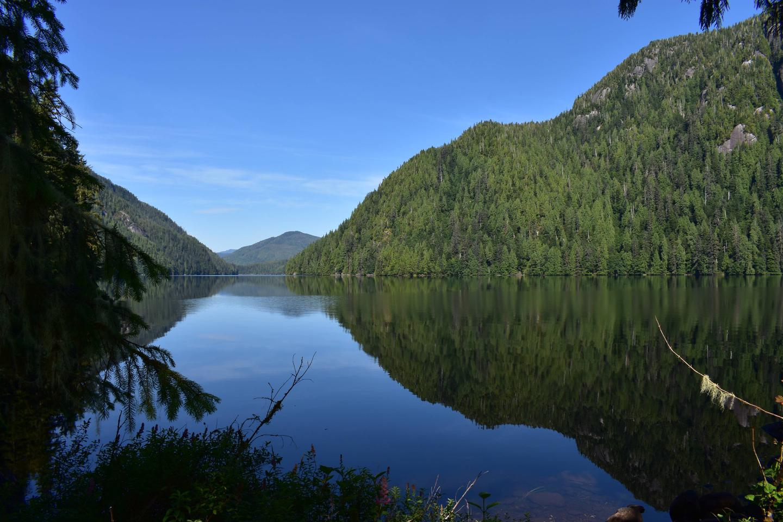 View from Hugh Smith cabinHugh Smith Lake