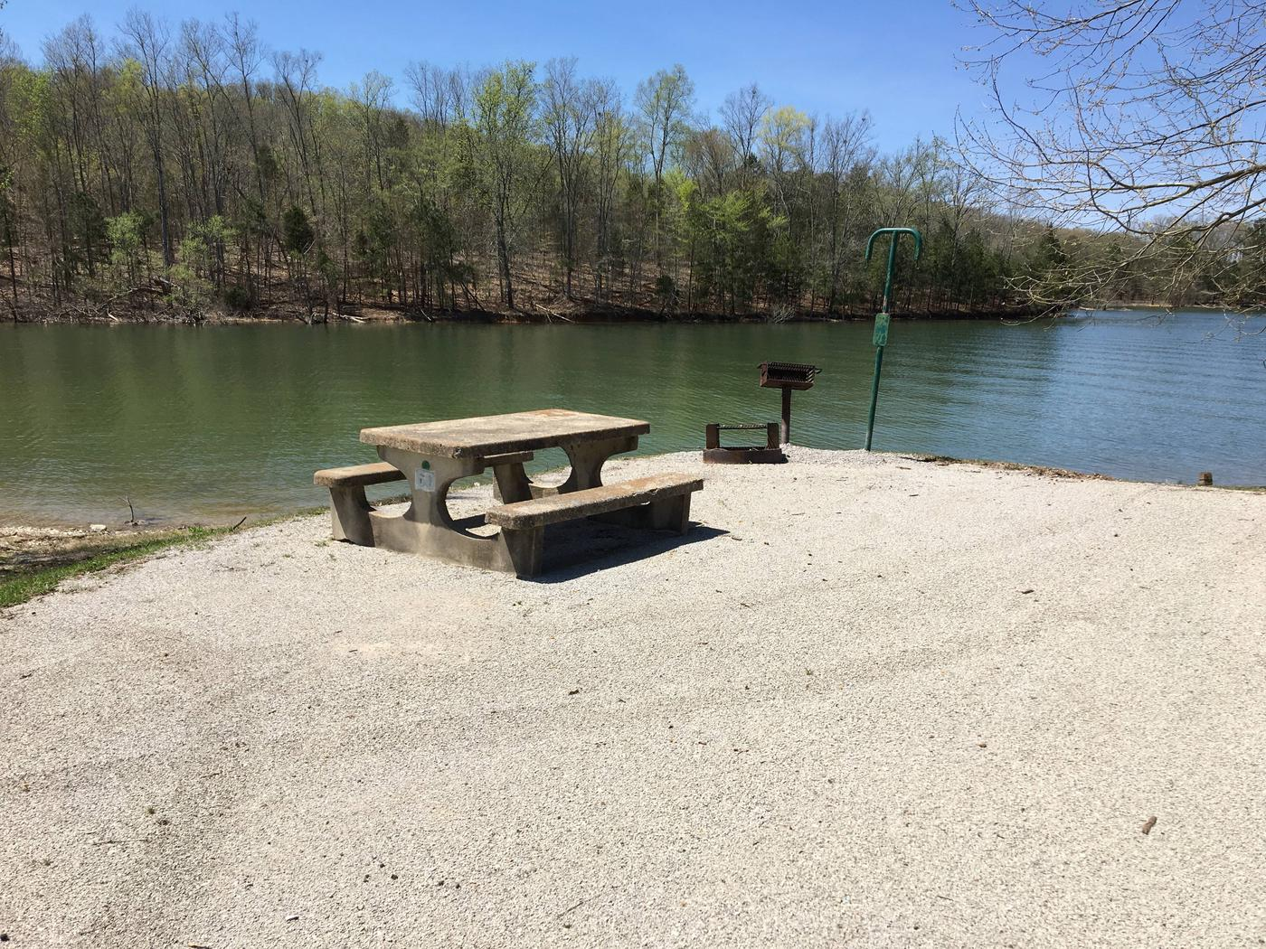 LILLYDALE CAMPGROUND SITE # 60 CONCRETE TABLE (2)LILLYDALE CAMPGROUND SITE # 60