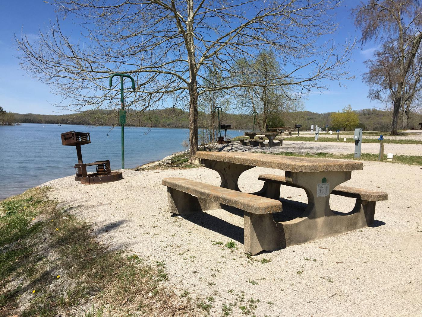LILLYDALE CAMPGROUND SITE # 60 CONCRETE TABLE WITH GRILLSLILLYDALE CAMPGROUND SITE # 60