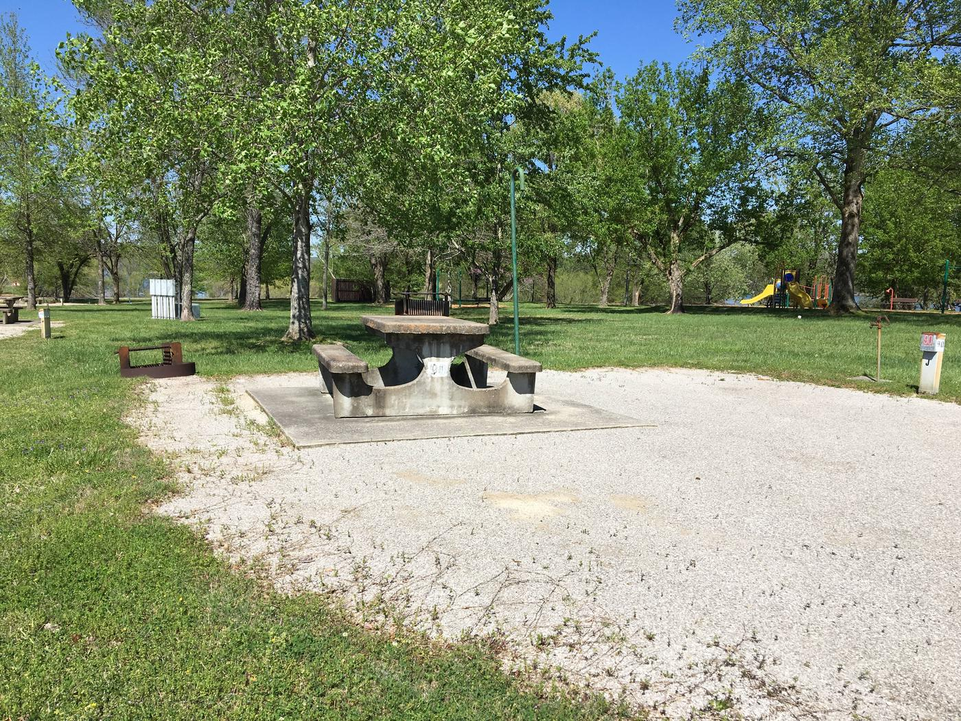 LILLYDALE CAMPGROUND SITE # 90 TABLE LILLYDALE CAMPGROUND SITE # 90