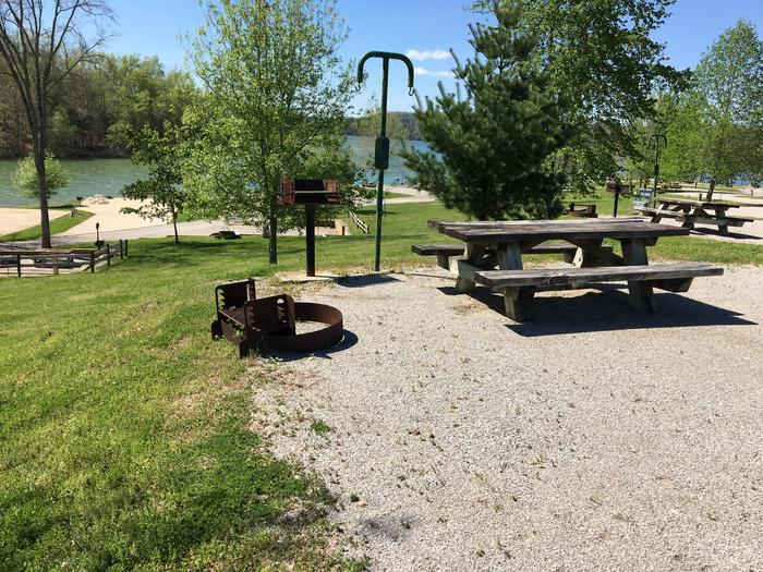 LILLYDALE CAMPGROUND SITE # 96 FIRE RING & HILLSIDELILLYDALE CAMPGROUND SITE # 96