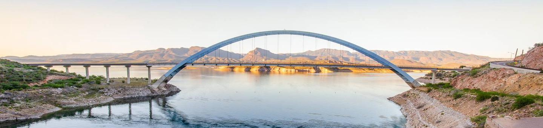 Overview of Roosevelt Lake Dam BridgeTonto Basin, AZ