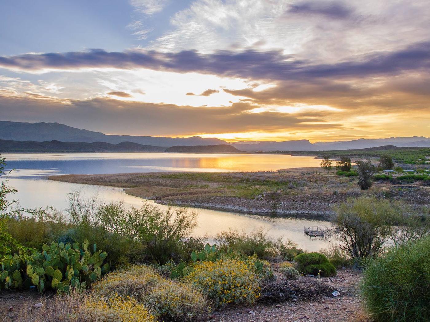 Lake views from Developed Rec SitesTonto Basin, AZ