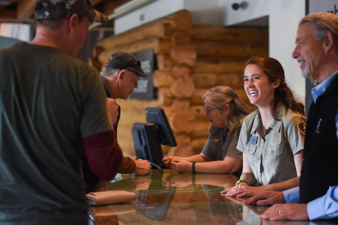 Welcome to DenaliStop by the Denali Visitor Center's information desk to answer questions about your visit.