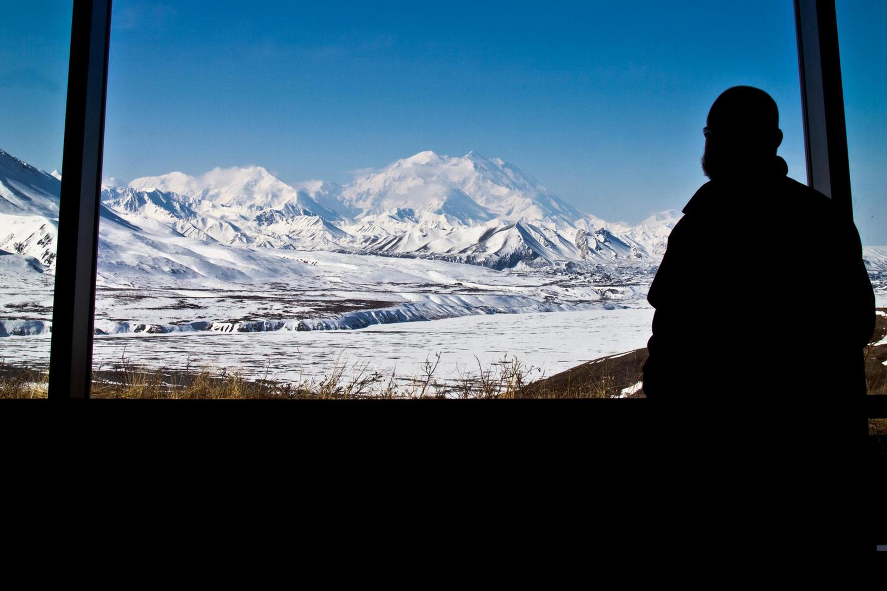 Eielson Visitor CenterThe view from Eielson Visitor Center features the snowy Alaska Range and North America's highest peak, Denali