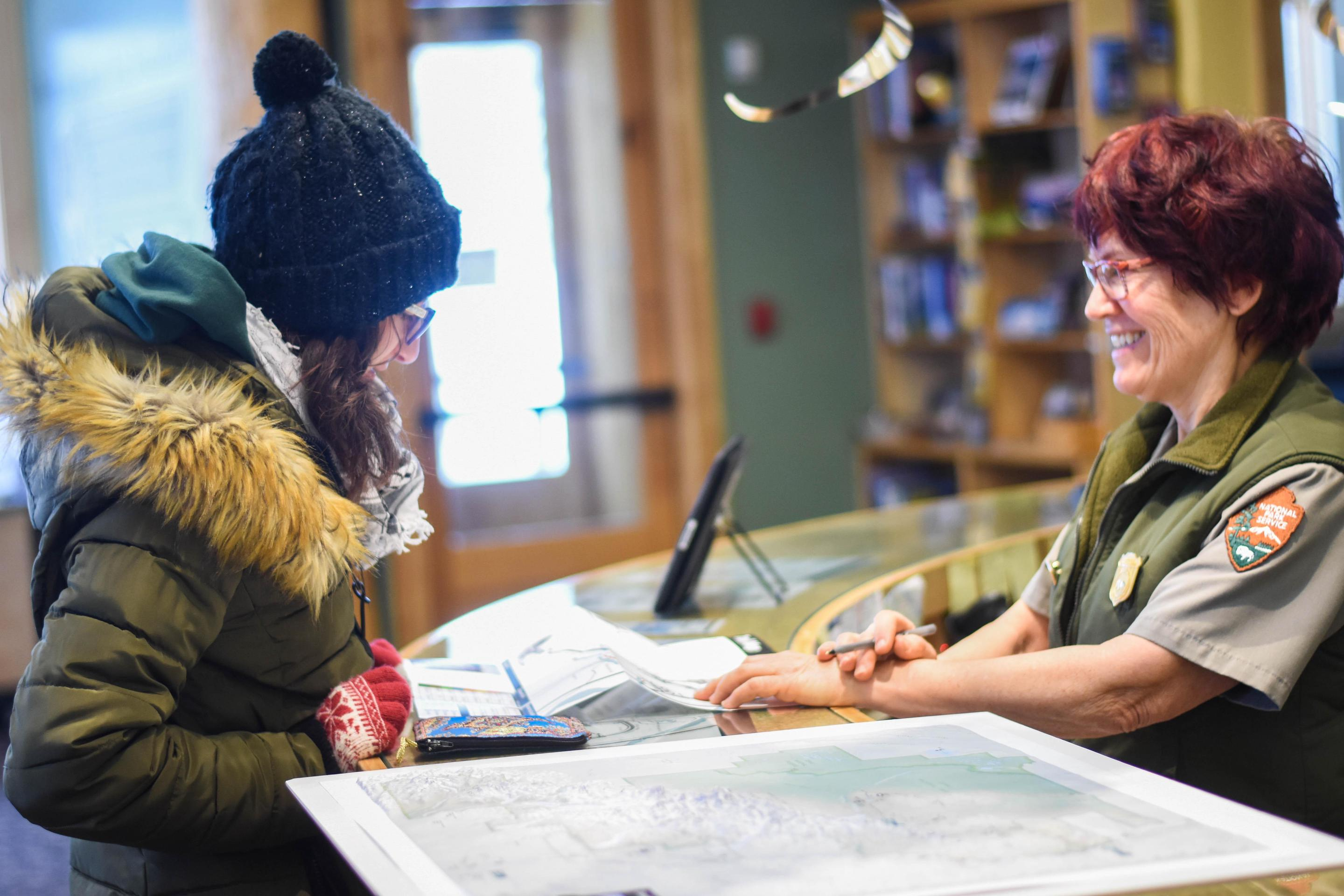 Winter Visitor CenterThe Murie Science & Learning Center serves as Denali's winter-time visitor center