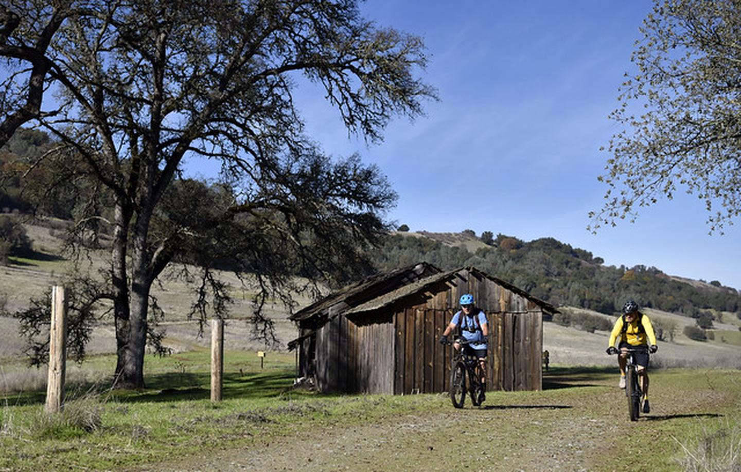 Cronan RanchMountain bikers at Cronan Ranch