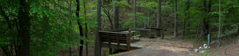 Upper Stamp Creek Campground, campsite 6
