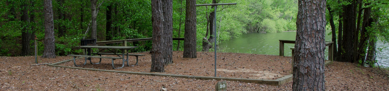 Upper Stamp Creek Campground, campsite 20