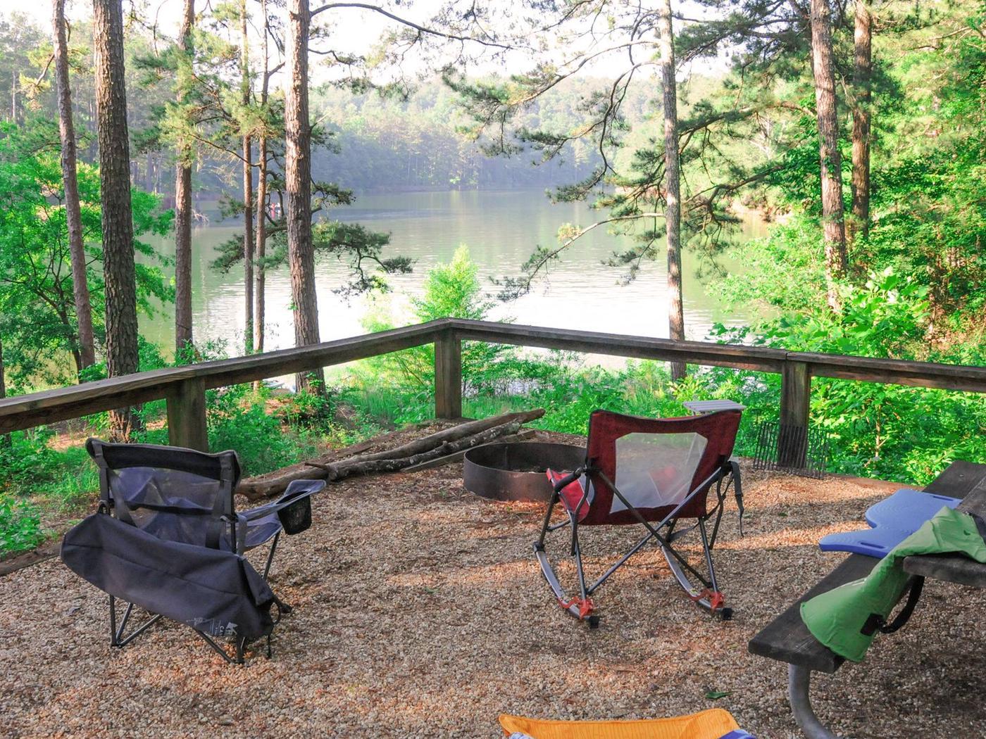 Campsite view.Upper Stamp Creek Campground.