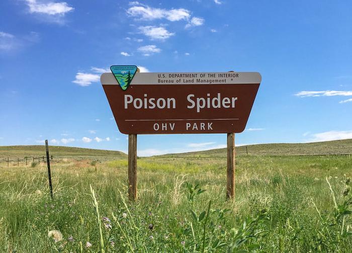 Poison Spider OHV sign