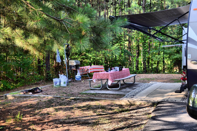 Campsite view.Payne Campground, campsite 002.