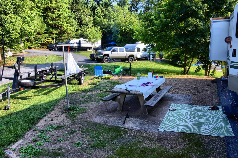 Campsite view.Payne Campground, campsite 007.