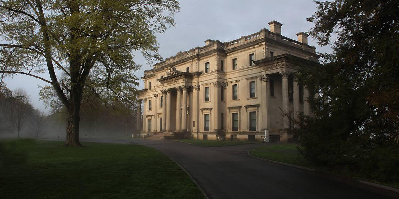 Vanderbilt Exterior in fogVanderbilt exterior in fog