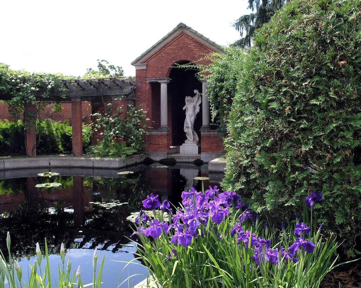 Italian Garden reflecting pond