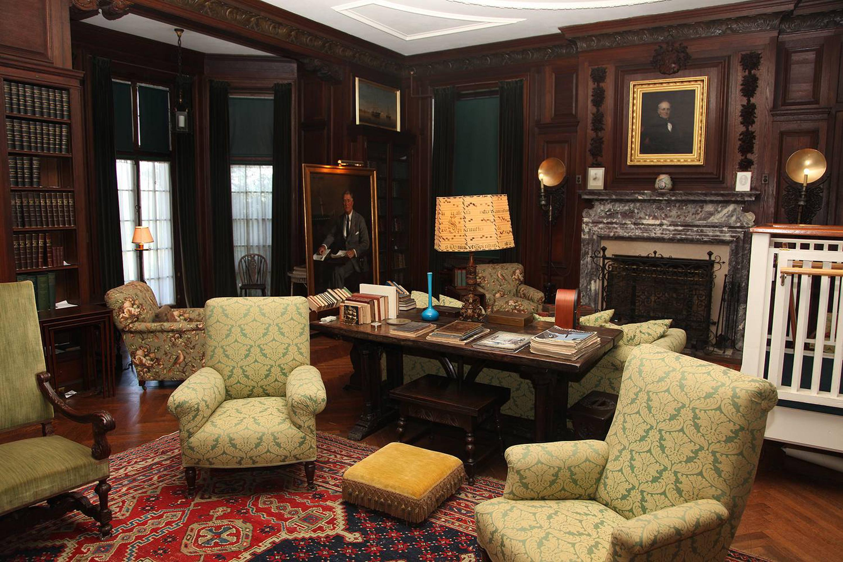FDR's home library