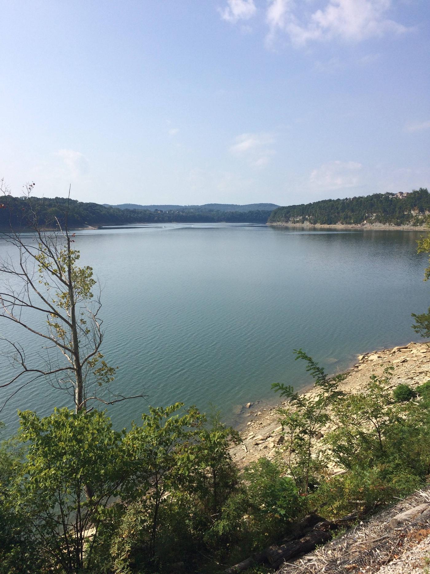 Scenery from campgroundLake Cumberland