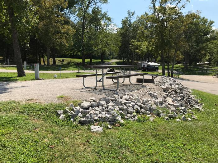 OBEY RIVER PARK SITE # 11  LIVING AREA WITH RIPRAPOBEY RIVER PARK SITE # 11