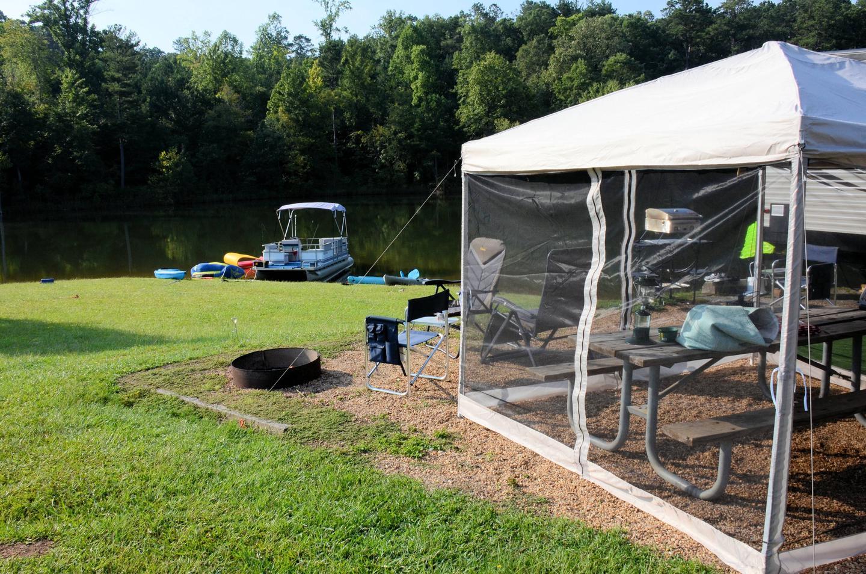 Campsite view.Payne Campground, campsite 11.