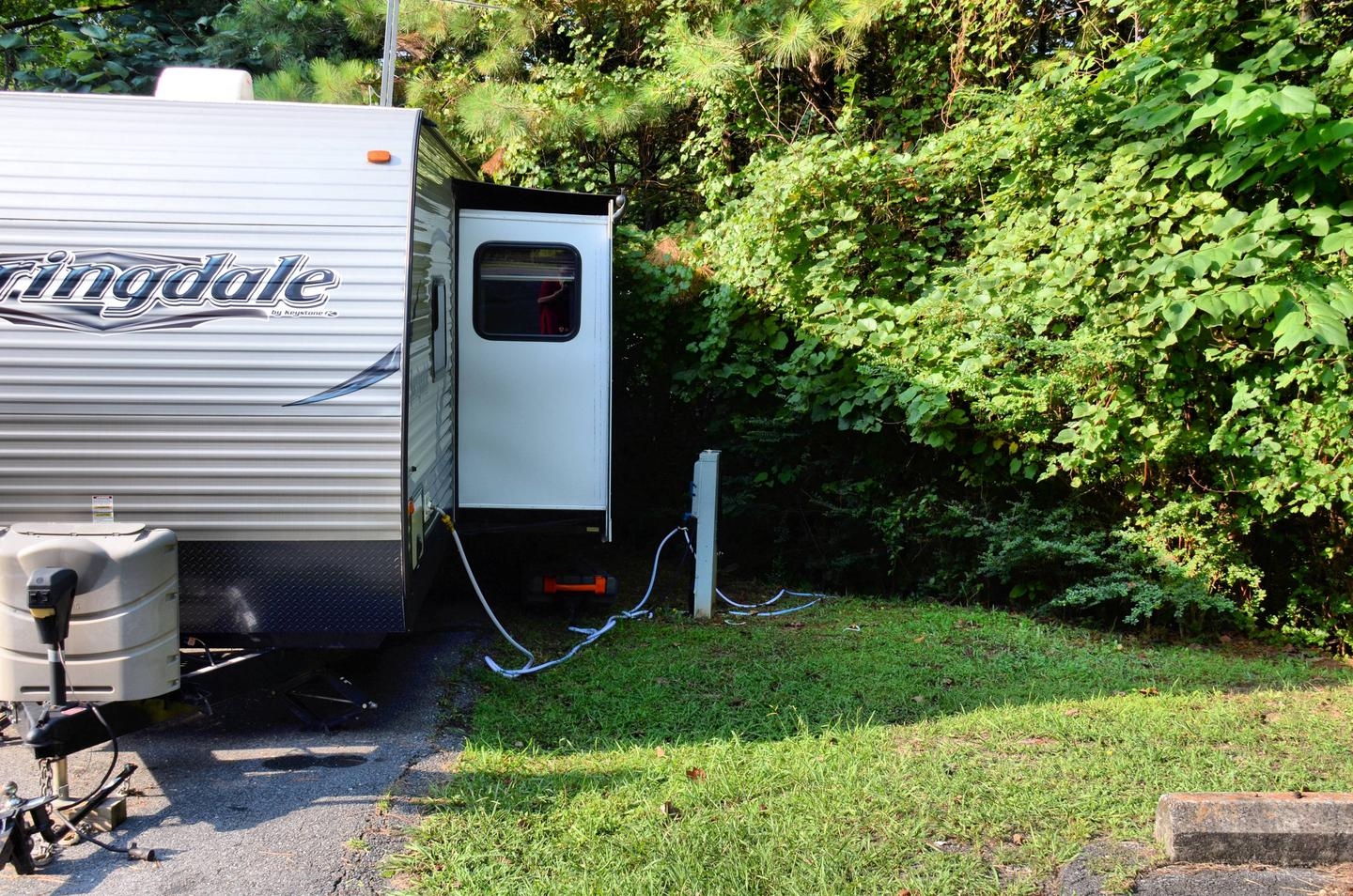 Utilities-side clearance.Payne Campground, campsite 14.