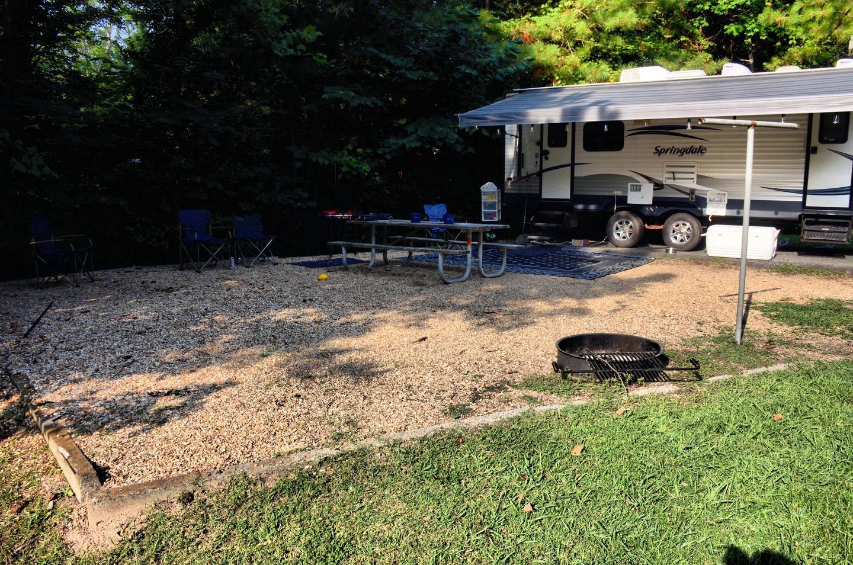 Campsite view.Payne Campground, campsite 14.