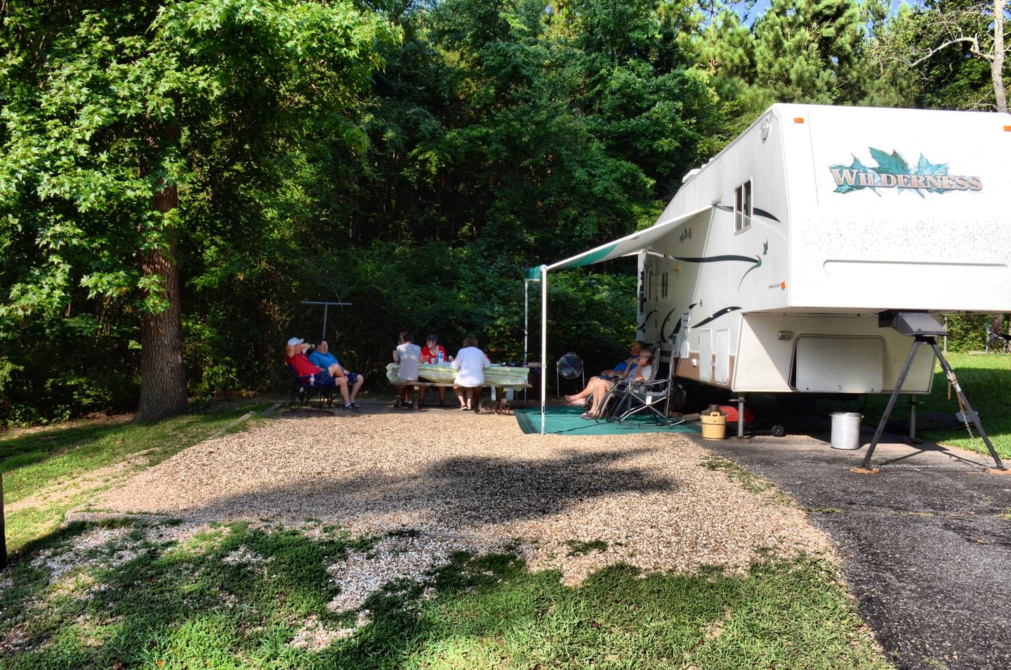 Awning-side clearance, campsite view.Payne Campground, campsite 17.