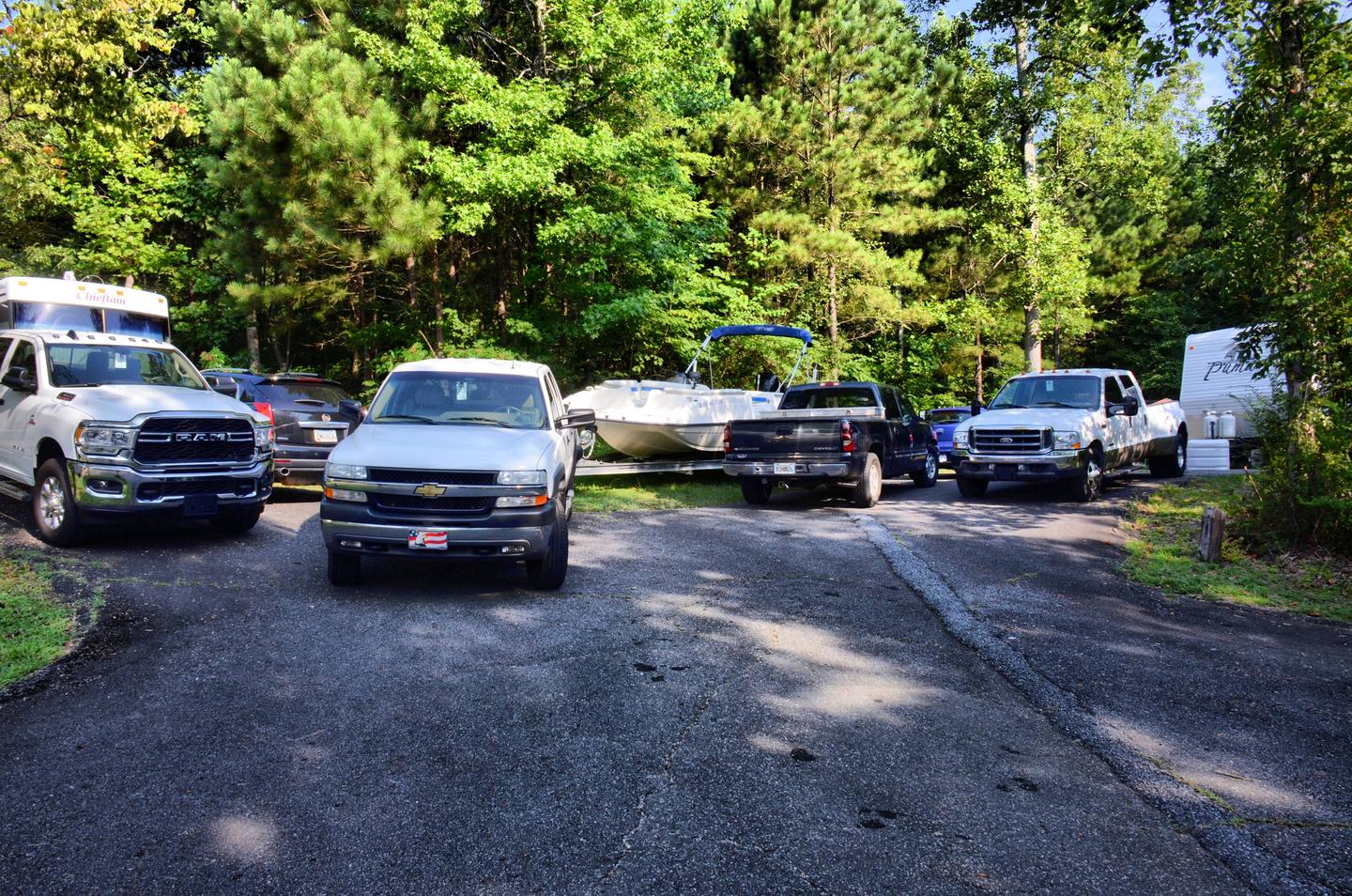 ParkingPayne Campground, campsite 19.  Parking can be tight at times.