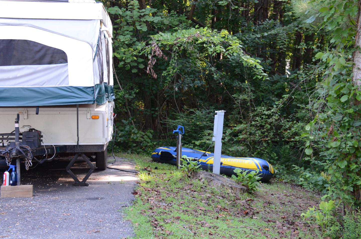 Utilities-side clearance.Payne Campground, campsite 20.