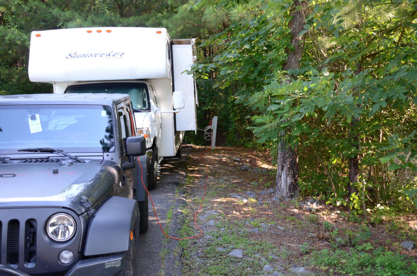 Utilities-side clearance.Payne Campground, campsite 21.