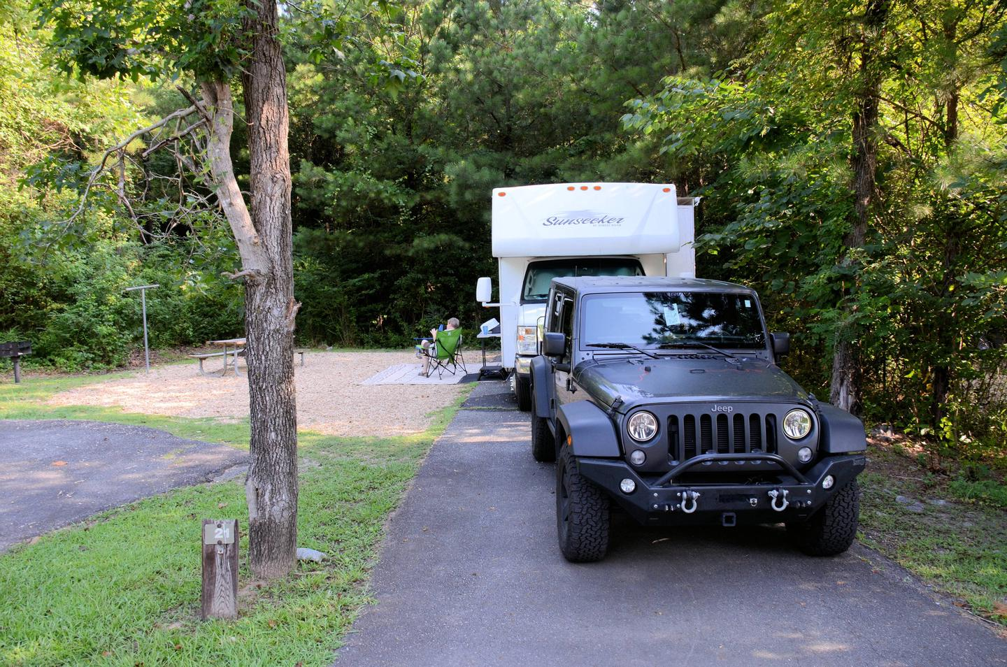 Awning-side clearance, campsite view.Payne Campground, campsite 21.