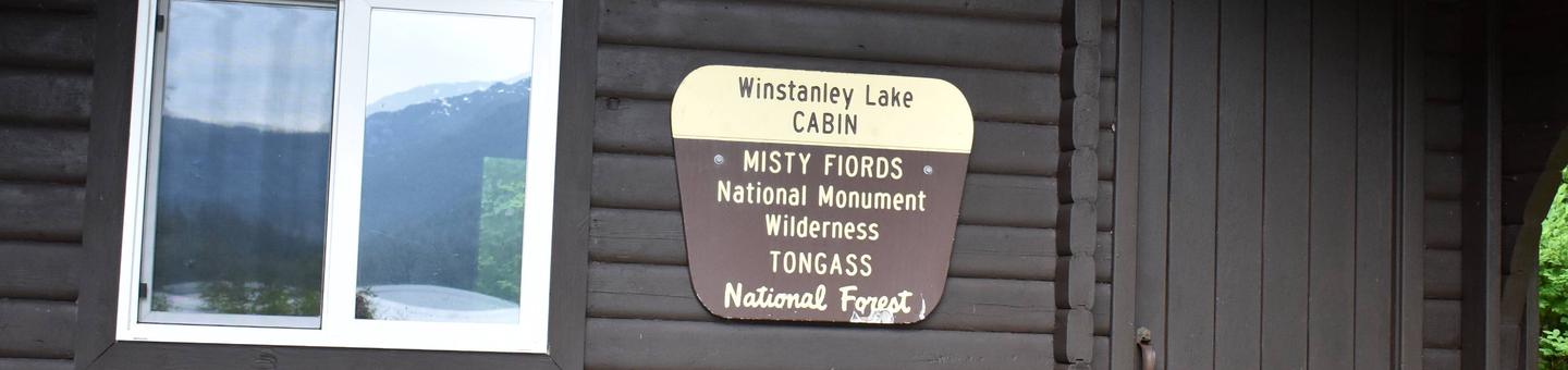 Winstanley Lake Cabin Sign