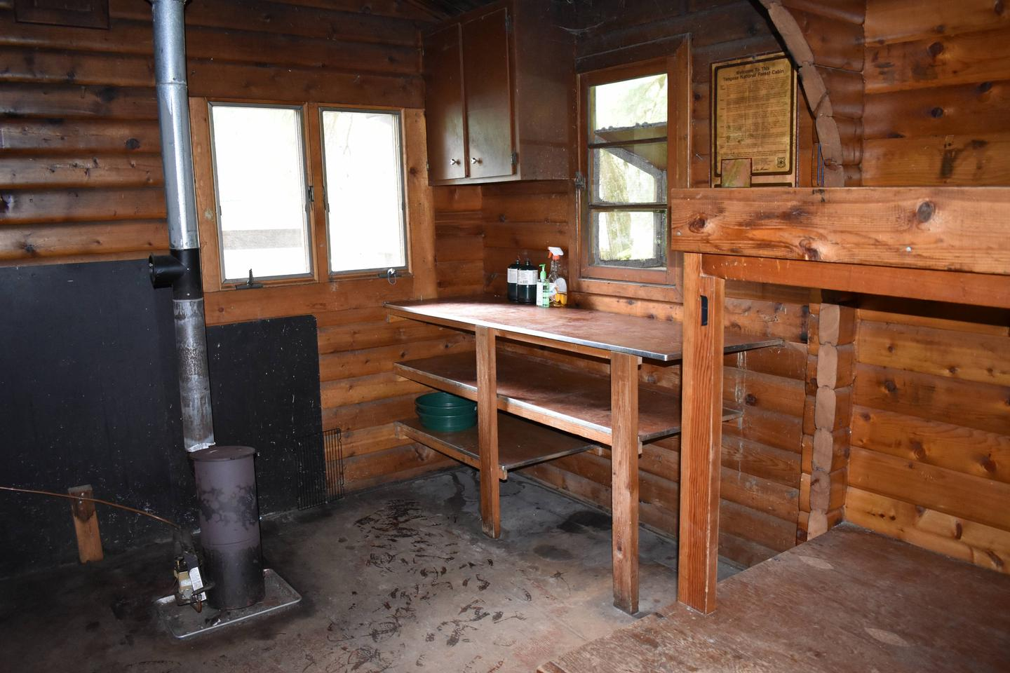 Kitchen area and oil stove