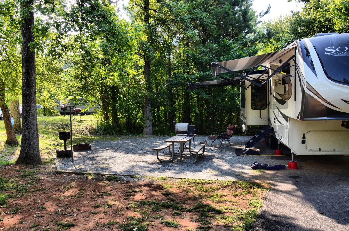 Campsite view, awning-side clearancePayne Campground, campsite 29.